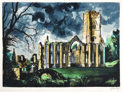 Lot 2014 - John Egerton Christmas Piper CH (1903-1992) ''Fountains Abbey'' Signed and numbered 136/150,...