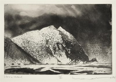 Lot 2016 - Norman Ackroyd CBE, RA (b.1938) ''Horn Head'' Signed and dated (19)98, inscribed and numbered 70/90