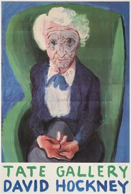 Lot 2021 - After David Hockney OM, CH, RA (b.1937)  ''My Mother, (Bridlington)'' 1988 Signed, offset...