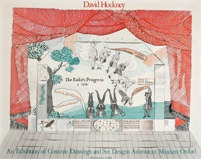 Lot 2023 - After David Hockney OM, CH, RA (b.1937)  ''The Rake's Progress'' Lithographic poster created in...