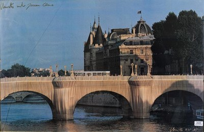 Lot 2025 - After Christo and Jeanne-Claude (1935-2020) (1935-2009) American  ''Wrapped Pont Neuf Paris''...