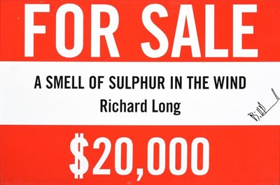 Lot 2028 - Bill Drummond (b.1953) after Richard Long CBE, RA (b.1945) ''The Smell of Sulphur in the Wind,...