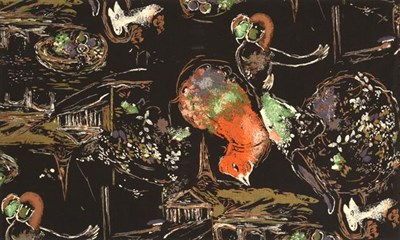 Lot 2037 - Marc Chagall (1887-1995) Russian/French ''Les Amoureaux'' (1955) for Fuller Fabrics Screen...
