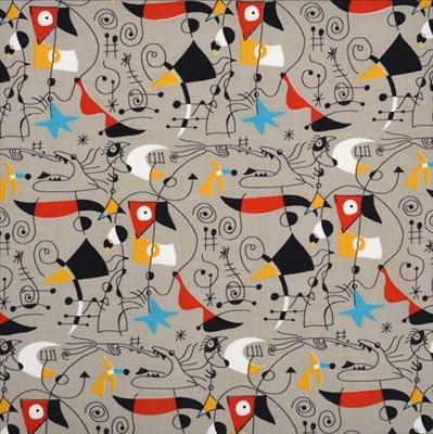Lot 2038 - Joan Miró (1893-1983) Spanish ''Women and Birds'' (1955) for Fuller Fabrics Screen printed cotton