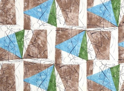 Lot 2040 - Pablo Picasso (1881-1973) Spanish ''Spring'' (1955) for Fuller Fabrics Screen printed cotton,...