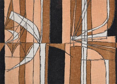 Lot 2046 - Trevor Bates (20th/21st century) ''Henge'' (1960) for Edinburgh Weavers Screen printed cotton...