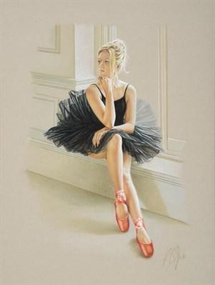 Lot 2057 - Kay Boyce (Contemporary) ''Black Swan'' Signed, pastel, 32cm by 24cm  Artist's Resale...