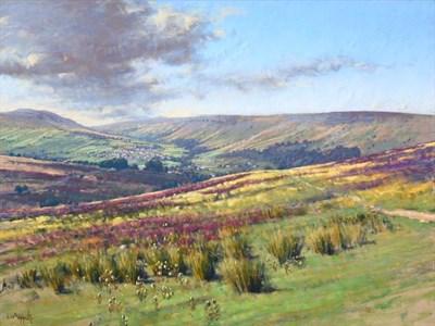 Lot 2059 - Lionel Aggett RIBA, SWAC (1938-2009) ''Swaledale'' Signed, pastel, 58cm by 77cm  Provenance: Walker