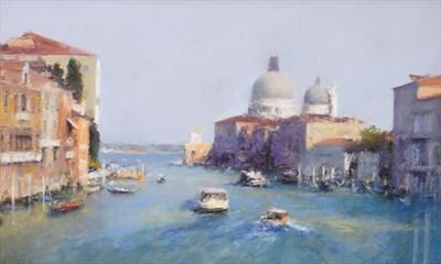 Lot 2061 - Bob Richardson PS (b.1938) The Grand Canal, Venice Signed, pastel, 99cm by 59cm  Provenance: Walker