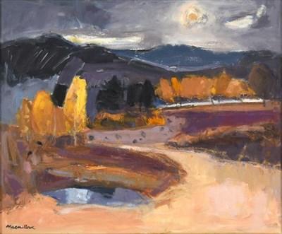 Lot 2065 - Sheila MacMillan (1928-2018) Scottish ''Kincraig Marsh''   Signed, oil on canvas, 48cm by 58cm...