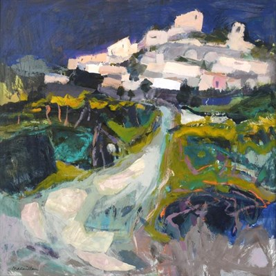 Lot 2066 - Sheila MacMillan (1928-2018) Scottish ''Vineyards at Joucas, Provence'' Signed, inscribed to...