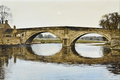 Lot 2075 - Peter Brook RBA (1927-2009) ''Bolton Bridge'' Signed and inscribed, oil on canvas, 50cm by 75cm...