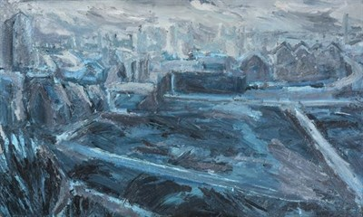 Lot 2082 - Northern School (20th/21st century) Industrial scene Oil on board, 91cm by 152.5cm  See...
