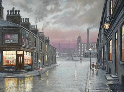 Lot 2083 - Steven Scholes (b.1952)  ''A Lancashire Street'' Signed, inscribed verso, oil on canvas, 44cm...