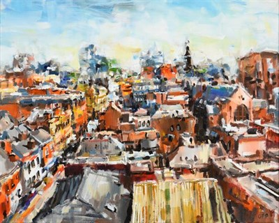 Lot 2084 - Olivia Pilling (b.1985) ''The View from Manchester House'' Initialled, oil on canvas, 39.5cm by...
