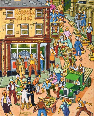 Lot 2088 - Joe Scarborough (b.1938) ''Norfolk Arms'', Sheffield Signed and dated (19)98, oil on canvas 49cm by