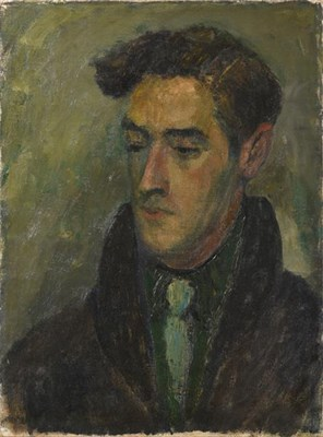 Lot 2100 - Attributed to Alexander Jamieson (1873-1937) Portrait of a man Signed, oil on canvas, with...
