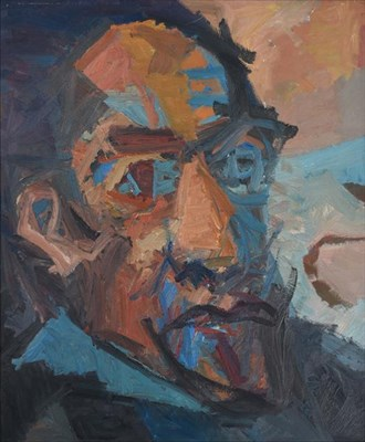Lot 2101 - Dave Pearson (1937-2008) Self Portrait (1990) Oil on board, 75cm by 62.5cm  Artist's Resale...