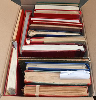 Lot 2003 - Worldwide carton, 20 albums/stockbooks as bought in auctions over the years, with an eclectic range