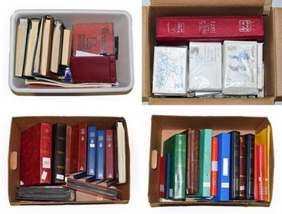 Lot 2010 - Large Worldwide Accumulation In Four Boxes incl. Commonwealth in stockbooks with much KGVI...