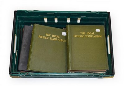 Lot 2017 - Vintage Worldwide Albums with sparse to better ranges in a Strand, Improved, pair of S.G....