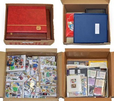 Lot 2019 - Worldwide In Four Cartons with a mint mainly KGVI Commonwealth collection incl. some better...
