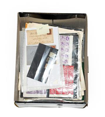 Lot 2020 - Worldwide holding in a file box incl. Great Britain 1840 1d black (poor), a range of 1841 1d...