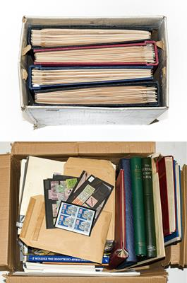 Lot 2024 - Worldwide accumulation in 2 Cartons, 1000s of stamps, m/ss, booklets and postal history, with...