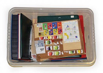 Lot 2030 - Storage Box containing albums, packets, stockleaves incl. a clean unmounted mint collection of...