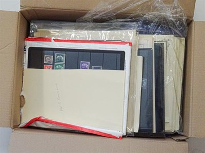 Lot 2031 - Germany and Area, Carton stuffed with packets of album pages representing collections bought in...