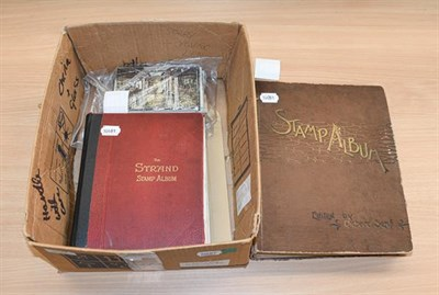 Lot 2038 - Worldwide, vintage albums, a somewhat battered Senf album for issues to 1899, with many hundreds of