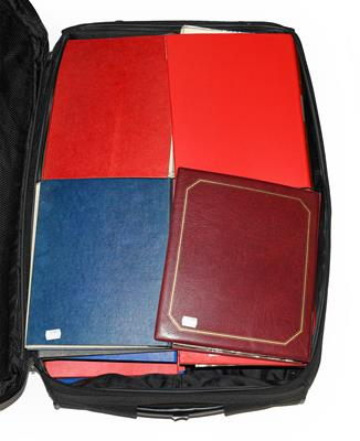 Lot 2041 - GB and Worldwide Collection in 21 binders filling a large suitcase. The GB and Channel...