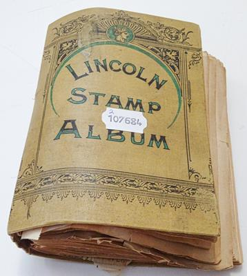 Lot 2048A - Worldwide, vintage collection in a 19th century Lincoln album containing hundreds of early...