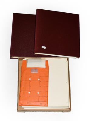 Lot 2056 - Canada QEII plate blocks, c.1960-68, neatly presented in two albums and a box of further album...