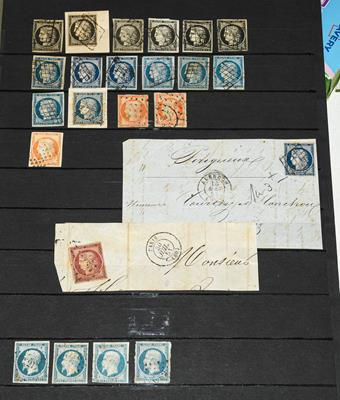 Lot 2058 - France 1849-52 Ceres used range incl. shades of 20c (6), 25c (13, incl.on entires x3), 40c...