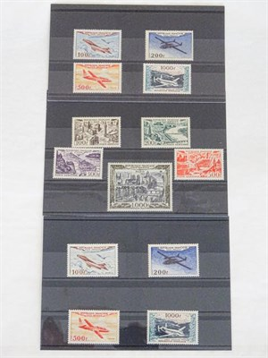 Lot 2060 - France, airmail mint sets, 1949-50 aerial views set (SG.1055-59, cat. £350) and two 1954...