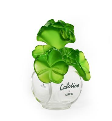 Lot 2 - A Cabotine de Gres Oversized Perfume-Bottle, with green foliage stopper, 23cm high