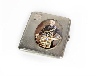 Lot 45 - An Elizabeth II Silver and Enamel Masonic Card-Case, by A. E. Poston and Co. Ltd., Birmingham,...