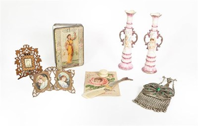Lot 68 - A Collection of Various Items, including: decanters stoppers in the form of heads; an enamelled...
