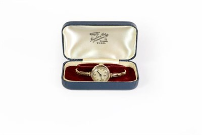 Lot 93 - A ladies 9ct gold wristwatch, signed Rolex, retailed by Armstrong, inside case back stamped RWC...