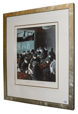 Lot 1000 - Mackenzie Thorpe (b.1956) ''Lunchtime in Southbank'' Signed, inscribed and numbered XLVI/C, a...