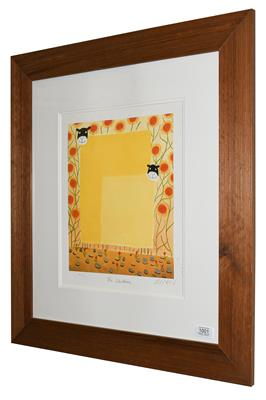 Lot 1001 - Mackenzie Thorpe (b.1956) ''The Children'' Signed, inscribed and numbered H/C 8/12, a colour...