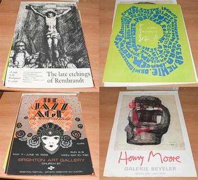 Lot 1006 - After Henry Moore OM CH FBA (1896-1986) Galerie Beyeler Basel Mai-Juli 1970 Exhibition poster,...