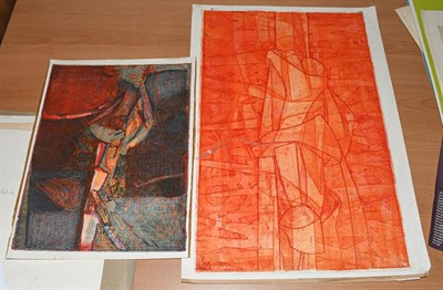 Lot 1009 - Circle of Stanley William Hayter CBE (1901-1988) Abstract Etching, together with another...