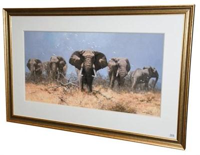 Lot 1016 - David Shepherd CBE, OBE, FRSA, FGRA (1931-2017)  ''Just Elephants'' Signed and numbered 30/75,...