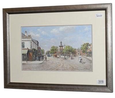 Lot 1019 - John L Chapman (b.1946) Lytham St Annes Signed, gouache, 20cm by 34cm  Artist's Resale Rights/Droit