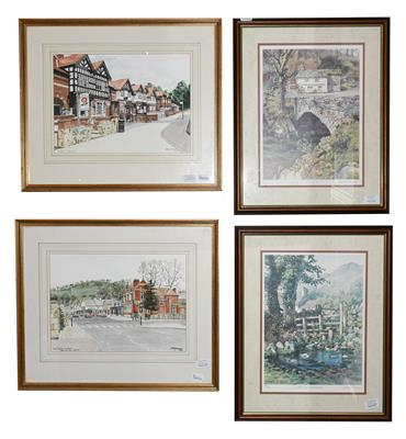 Lot 1030 - A Hargraves (Contemporary) ''King Street, Whalley'' Signed watercolour, together with another...