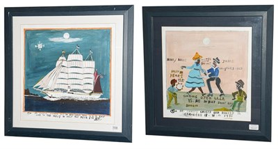 Lot 1039 - Canute Caliste (West Indian School 21st century) ''Old Dancer Cariacou'' Signed, inscribed and...