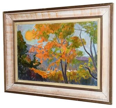 Lot 1046 - Grumbacher (20th/21st century) German Autumnal landscape Oil on canvas, 39.5cm by 60cm...