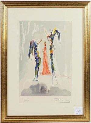 Lot 1050 - After Salvador Dali (1904-1989) Spanish ''The Angels of the Empyrean'' ''The Two Crowds of the...